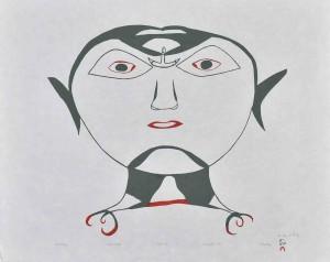 Arts graphiques_O.MIKKIGAK-tête avec ulu